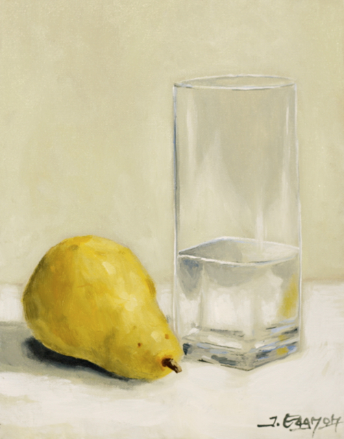 glass and pear acrylic painting lesson dvd tim gagnon studio