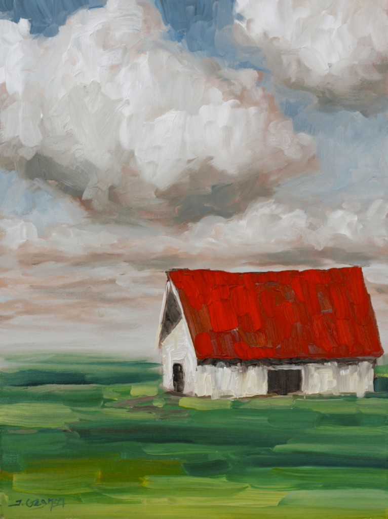 Expressionist barn acrylic painting lesson tim gagnon for Watercolor barn paintings