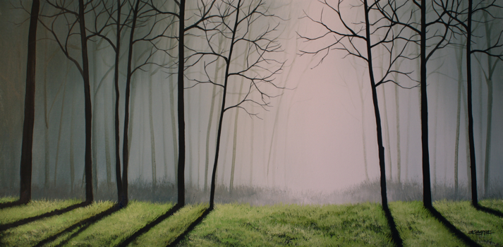Misty forest 5 lesson set online acrylic painting for Painting a forest in acrylics