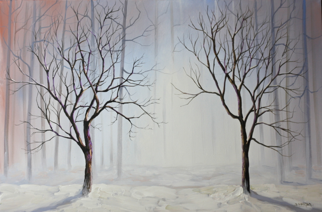 Winter Misty Forest – Acrylic Painting Lesson | Tim Gagnon Studio