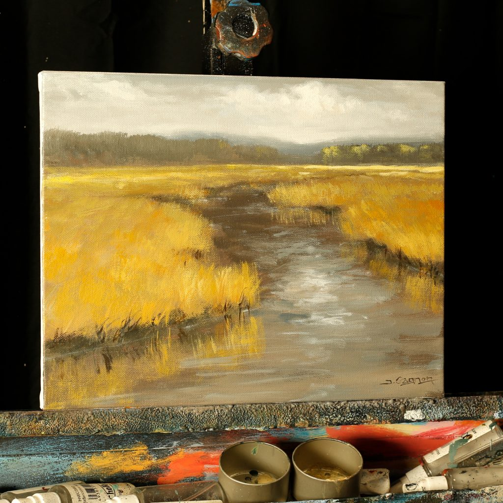 The Cloudy Stream – An Acrylic ONLINE Painting Lesson ...