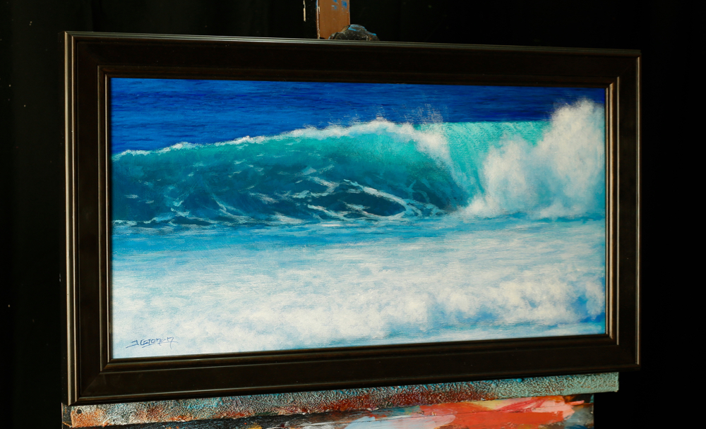 Learn how to paint an ocean wave in acrylic | Tim Gagnon Studio