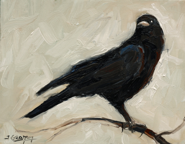 Expressionist Crow - Acrylic Painting Lesson
