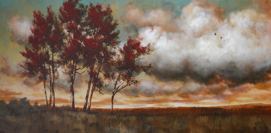 An Autumn Breeze Dvd Painting Lesson In Acrylic Tim